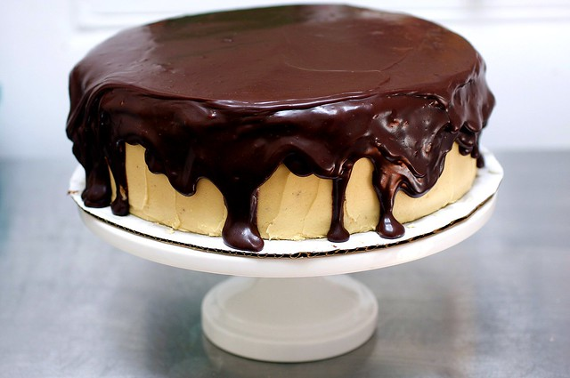 chocolate peanut butter birthday cake