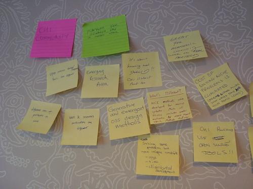 Affinity Diagram Clusters @ FLOSS HCI Workshop at SIGCHI 2010