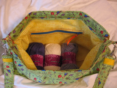 Knitting Bag with Yarn