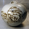 Chris Sanders and Donald Green. Spherical jar with crab