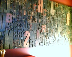 Wall of type