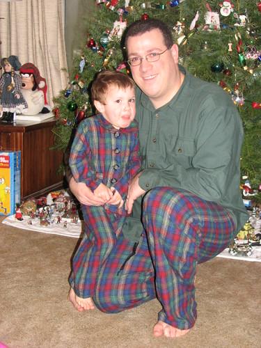 Paul & Jacob in matching pjammies