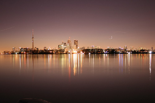 Toronto during Earth Hour, wide aperture
