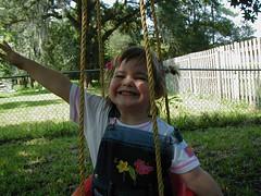 Erin on a swing