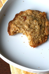 Oatmeal Peach Ginger Cookie bitten