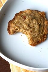 Oatmeal Peach Ginger Cookie bitten