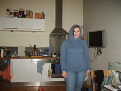 Total gimp! Yeah, not really going to be using this for the hood. No wonder no one was wearing the hood in any of the pattern pictures.