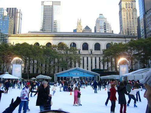 Ice Skating, Bryant Park