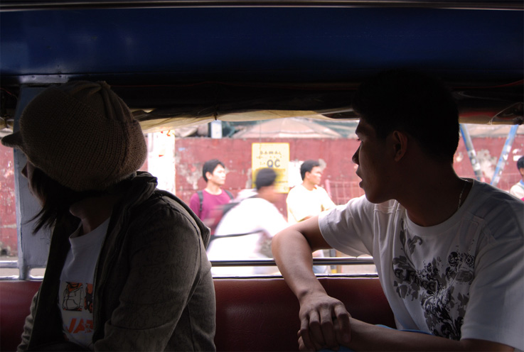 2/21/08-looking out from inside a jeepney