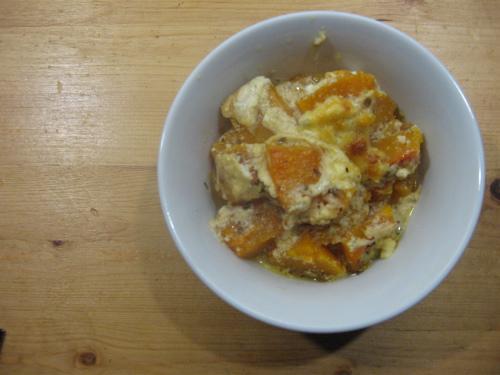Butternut squash plated
