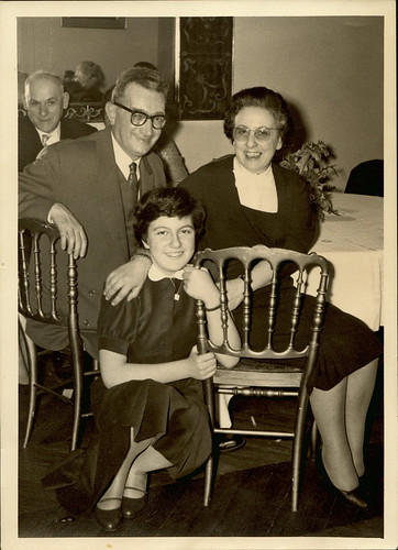 With my uncle and aunt in 1958