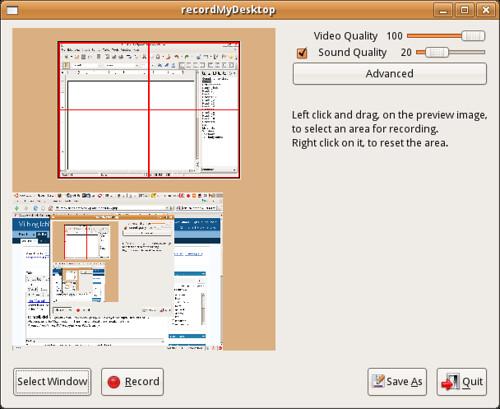 Screenshot of gtk-recordmydesktop
