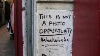 Not a photo op