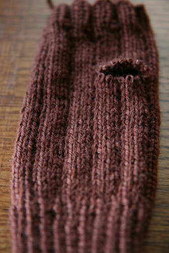 Remove scrap yarn by you.