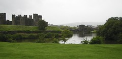 Caerphilly castle - another western view