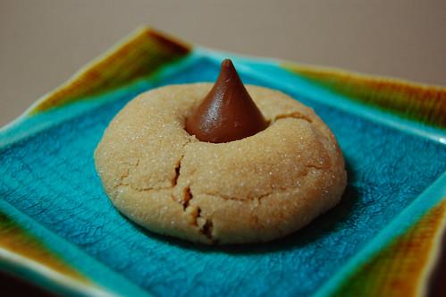 Artsy Hershey's Kiss cookie
