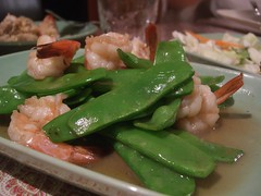 Stir-fried snow peas with prawns - Kao Gang