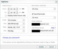 Scrybe e-mail, sms notification