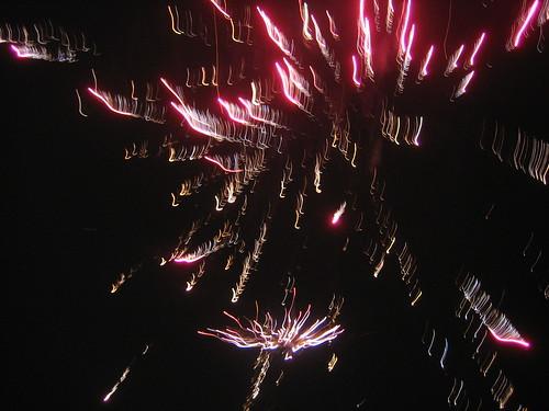 Fireworks overhead