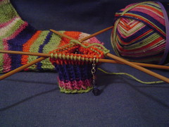Ribbing completed on second sock