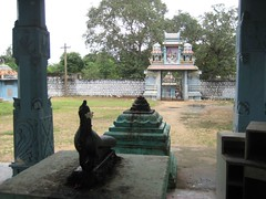 Peacock Vahanam and the Temple Entrance