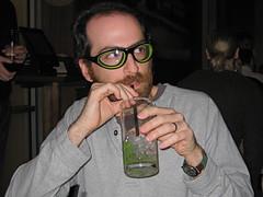 Matthew in slurping goggles