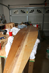 Working on the Kayak Floor - Stitching, epoxy, and fiberglass