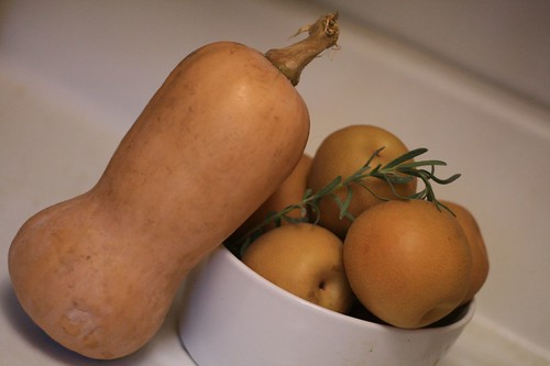 Butternut Squash and Asian Pears