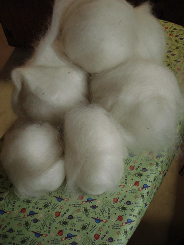 mohair/wool roving