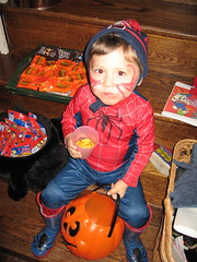 Jay as Spiderman