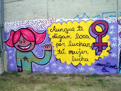Mujer lucha