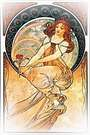 Las artes 1898, pintura. Alphonse Mucha.