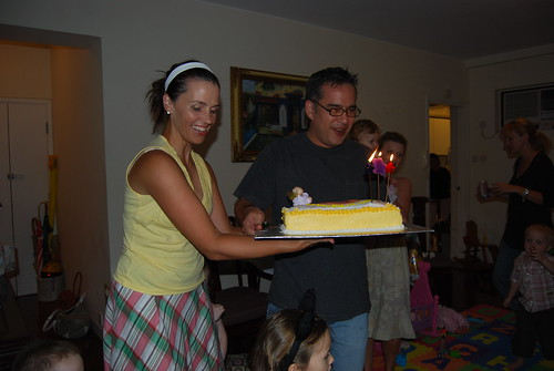 Mom and Dad with the Birthday Cake.