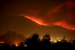 Mt.+San+Miguel+continues+to+burn.++San+Diego+wildfires.