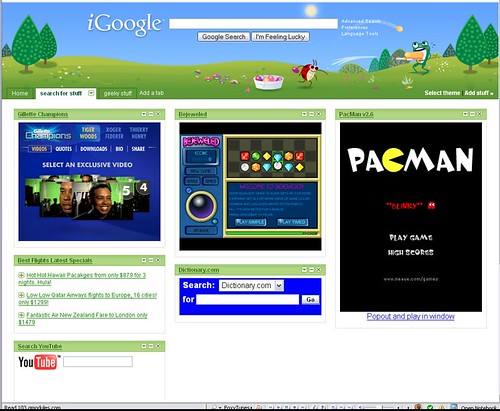 Gadget Ad on an iGoogle home page