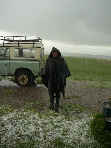 Just back from a ride in poncho de agua and hail stones