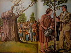 Communist propaganda - Nicolae and Elena Ceausescu
