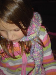 K. wearing her scarf