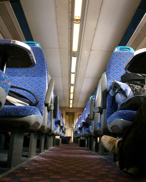Inside a british train