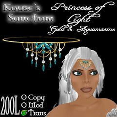 Princess of Light - Gold - Aquamarine