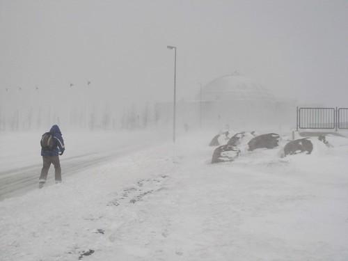 Snow Storm - Reykjavik , Iceland