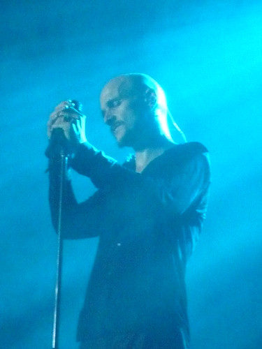 Tim Booth of James singing live