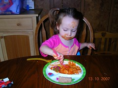 I guess she is enjoying the carrots hidden in spagO's