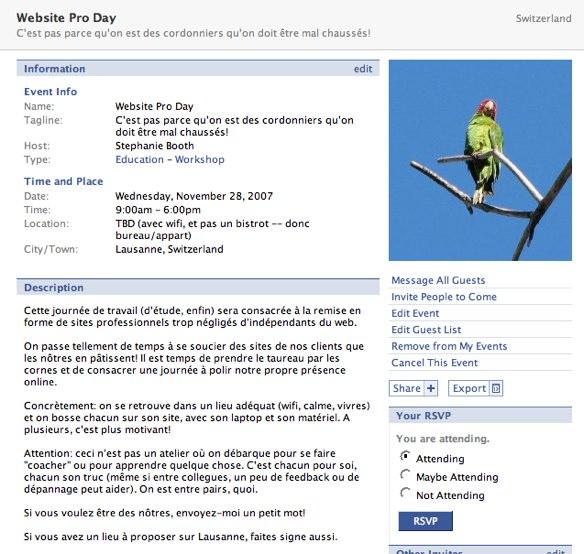 Facebook | Website Pro Day à Lausanne