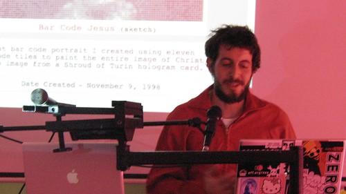 Scott Blake talking at the Musemsquartier, Vienna