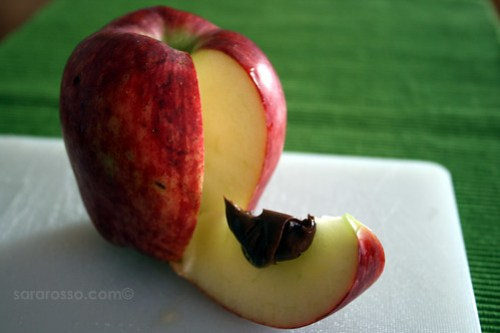 Apple and Nutella for World Nutella Day