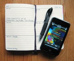 Custom Moleskine Planner & iPod touch