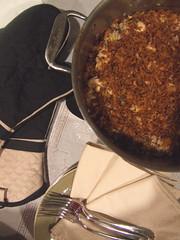 Chicken & Rice Casserole w/ Onion Crisps