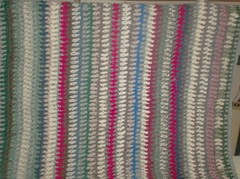 Vintage Vertical Stripe Afghan - 48 Rows