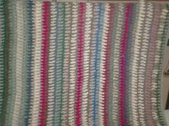 Vintage Vertical Stripe Afghan - 48 Rows